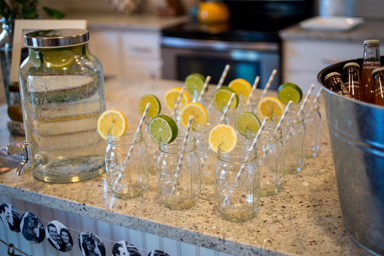 Mason Jar Party Drinks