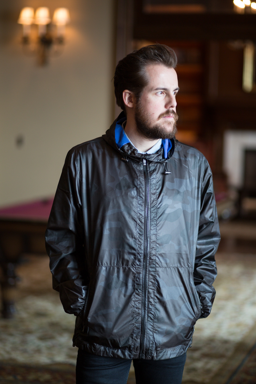 Menswear Camo Rain Jacket