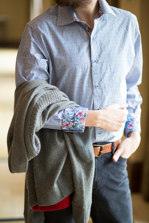 Floral Menswear Top