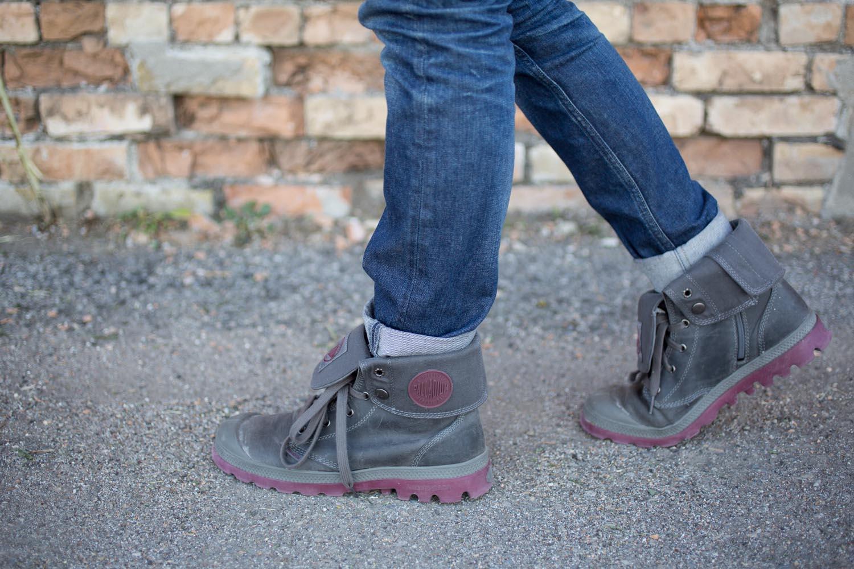 Palladium Boots in Gray