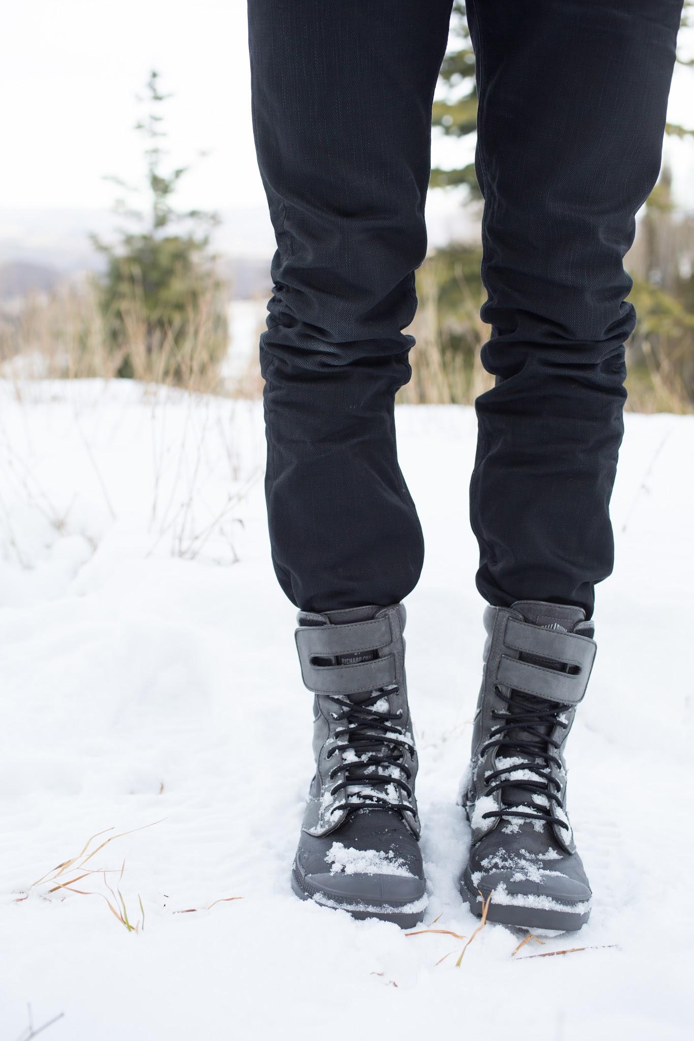 Palladium Boots in the Snow