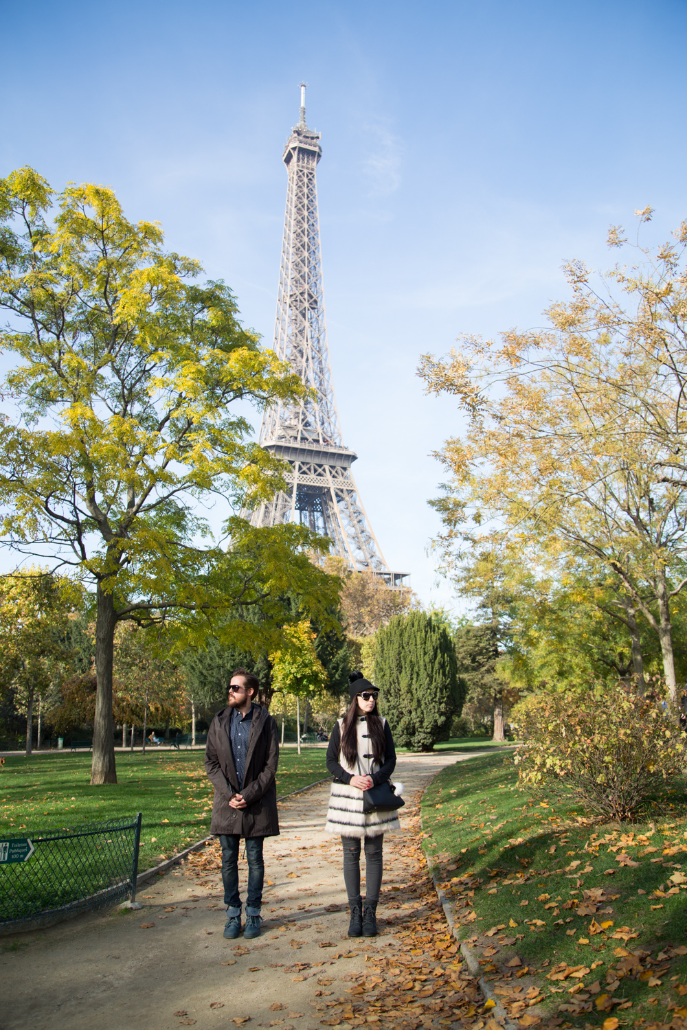 Eiffel Tower During the Fall Time