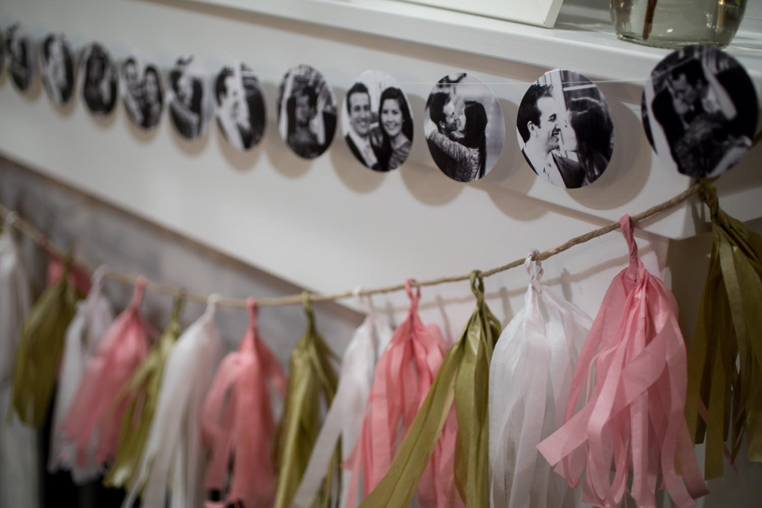 Picture and tassel garland