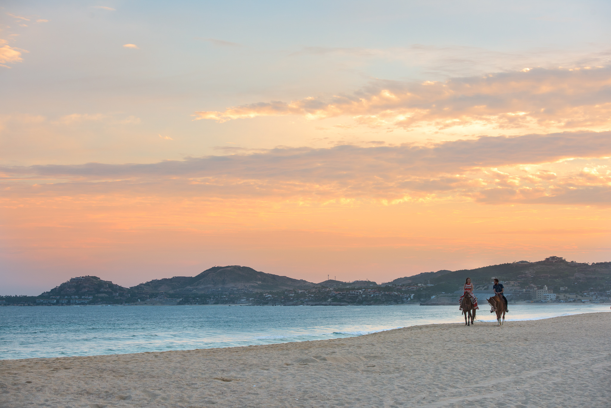 Couples Sunset Horse Back Ride on the Beach in Cabo