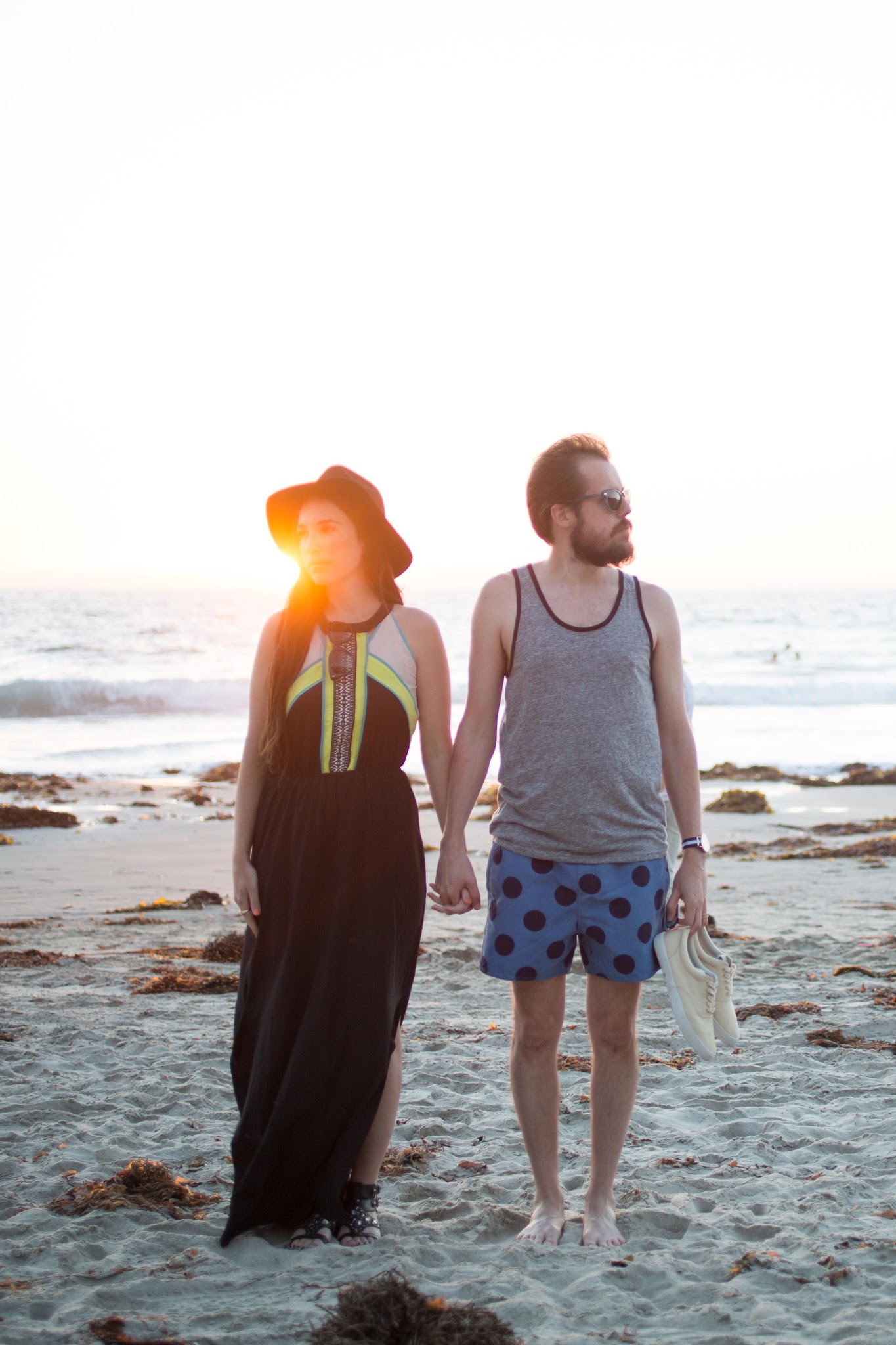 kelseybang.com- his and her style at the beach