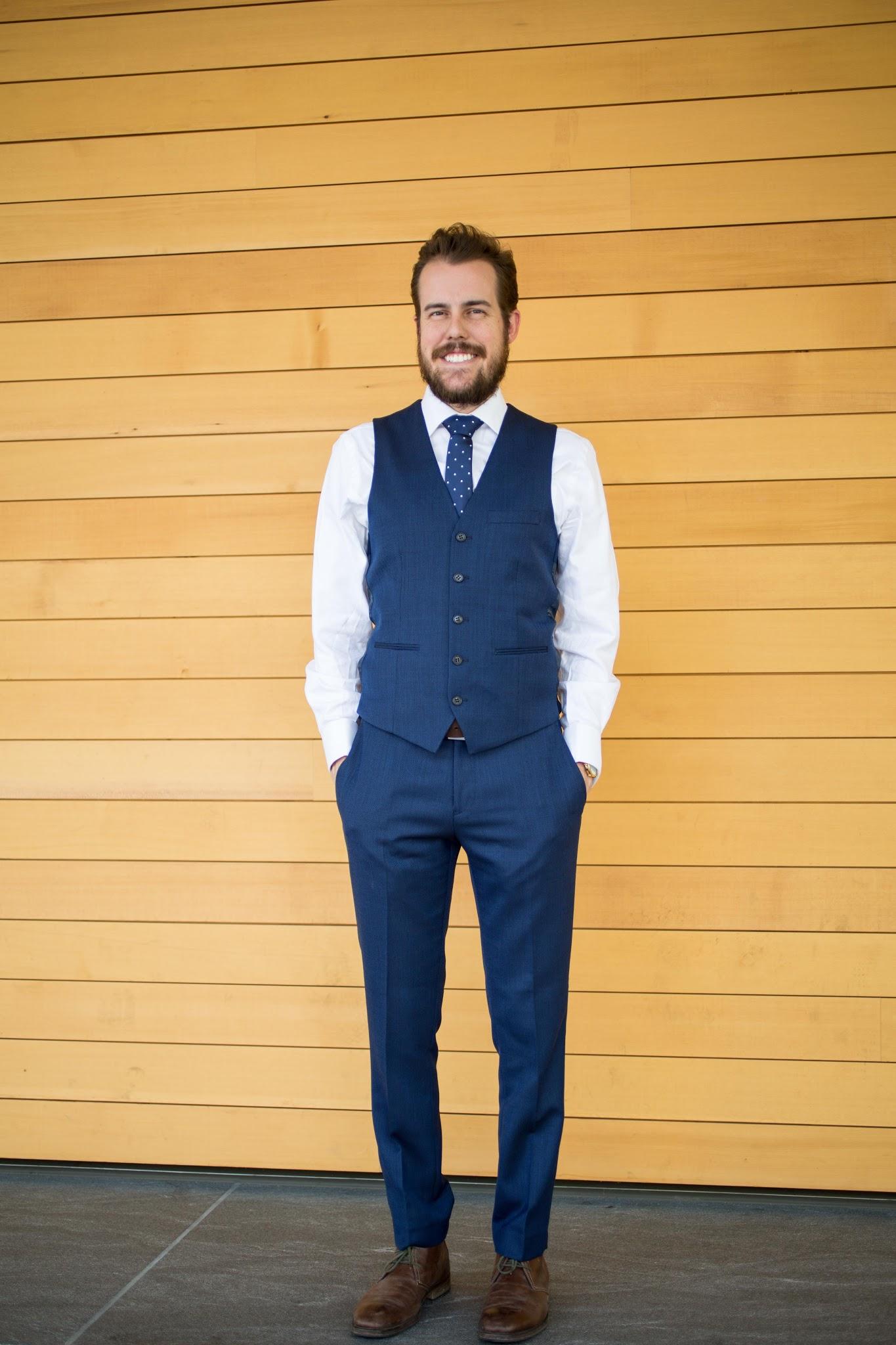 Navy Skinny Fit Tompan Suit