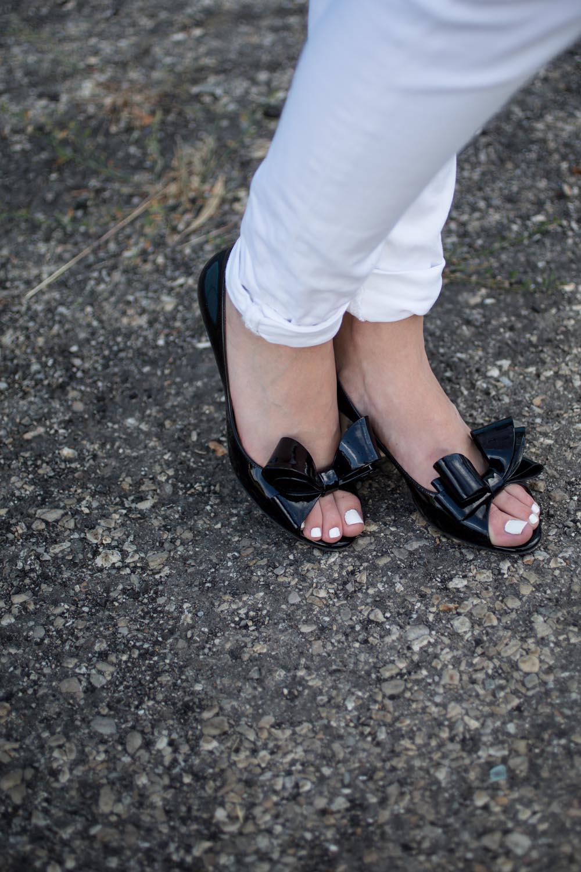 Valentino Bow Pumps in Black