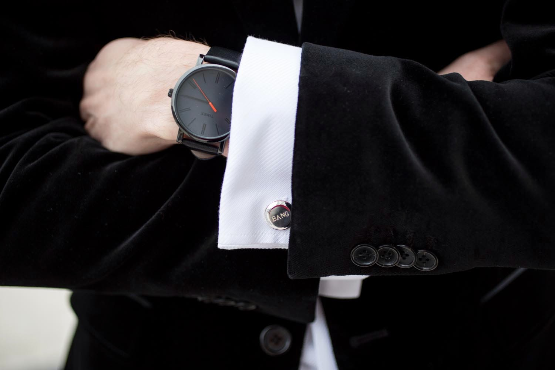 custom BANG cufflinks