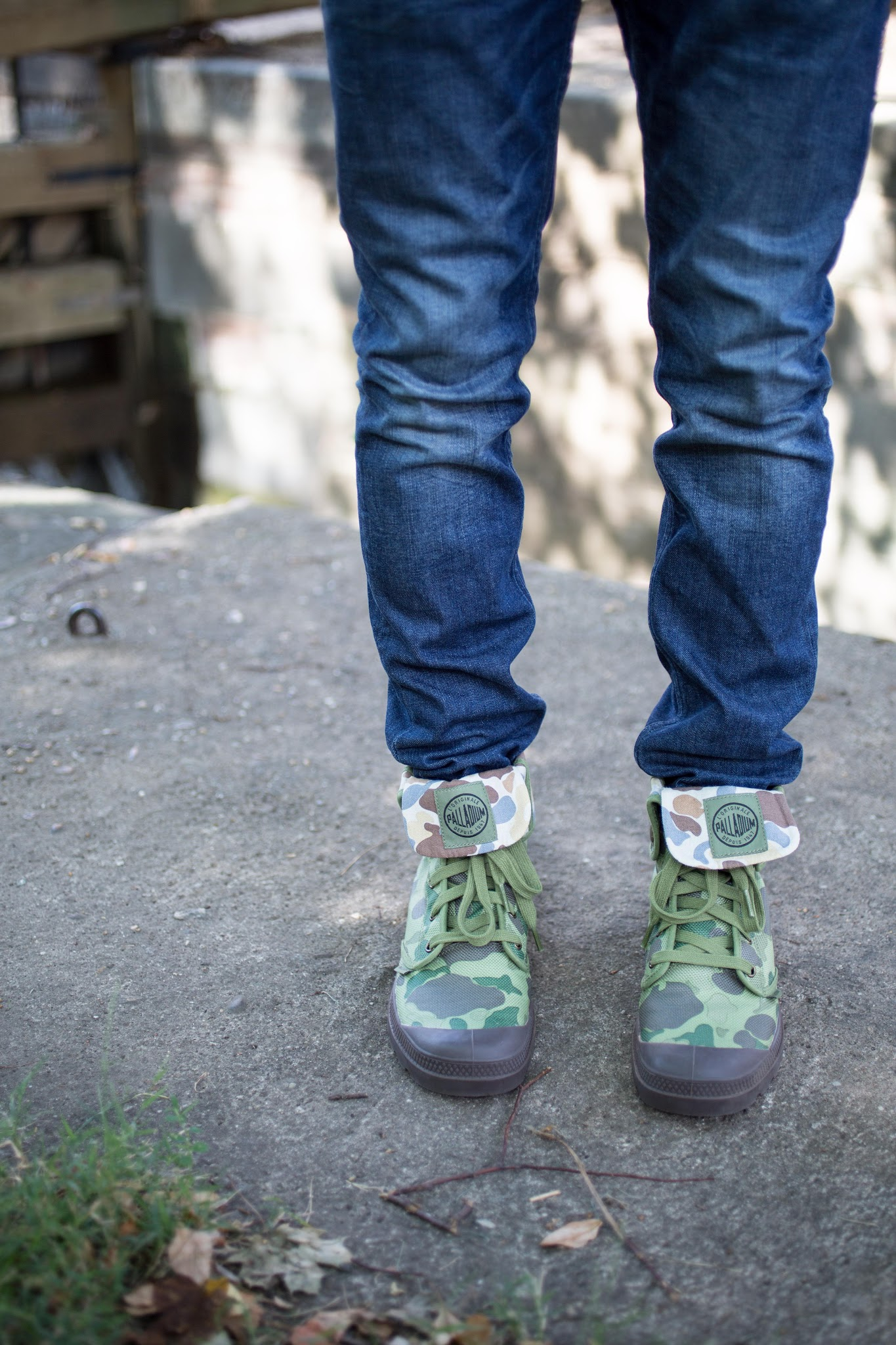 Palladium Boots Camo Baggy Canvas