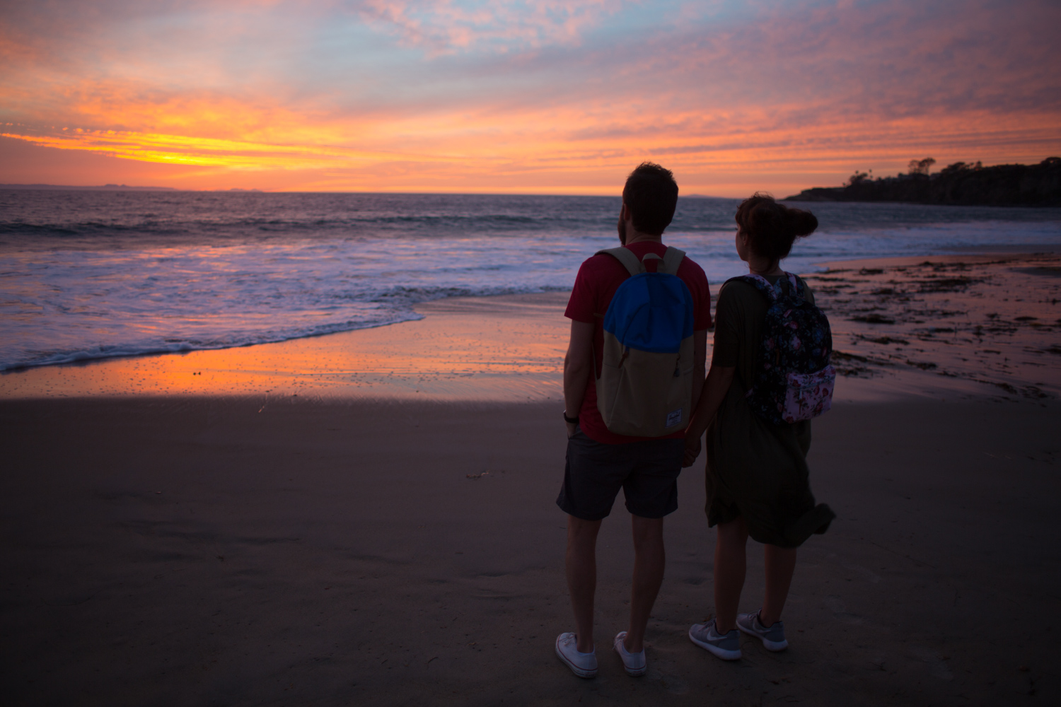 Romantic Sunset at Crystal Cove