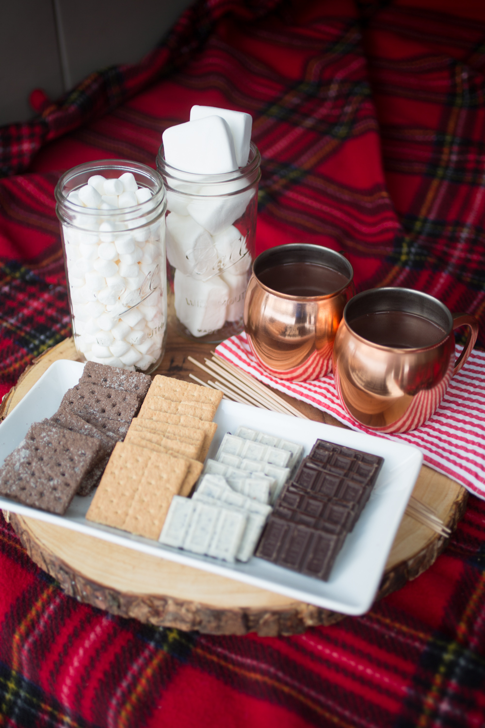 smore's and hot chocolate winter date